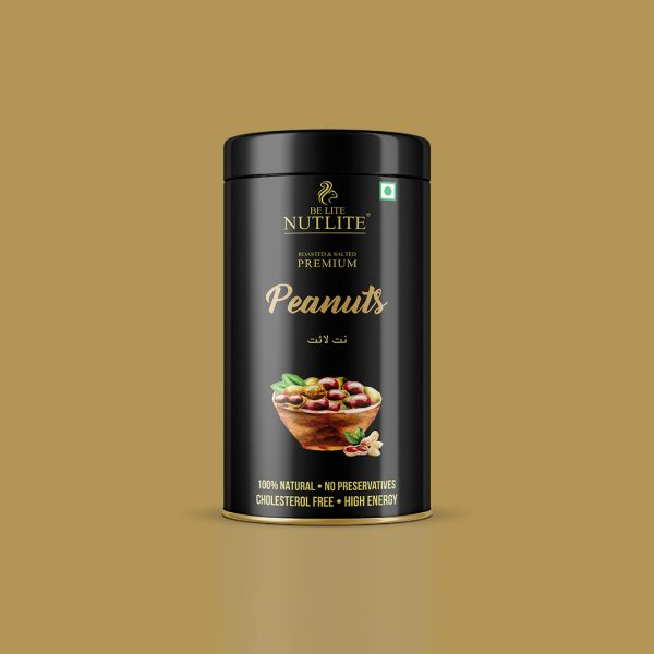 Premium quality Roasted and salted Peanuts 200 gm Can - Nutlite